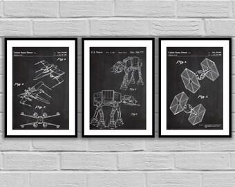 Star Wars patent, Millennium Falcon Star Wars Poster, Tie Bomber Star Wars Patent, Millennium Falcon Star Wars Print, Millennium FalconSP535