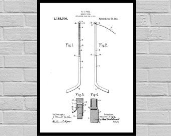 Hockey Poster, Hockey Stick Patent, Hockey Stick Print, Hockey Stick Art, Hockey Art, Hockey Patent, Gift for him, Dorm Decor p827
