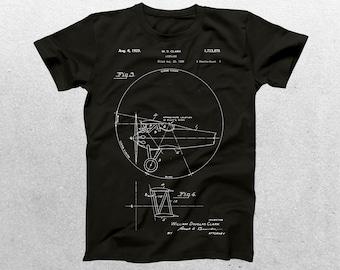 Airplane Patent T-Shirt, Airplane Blueprint, Patent Print T-Shirt, Vintage Aircraft Shirt, Aircraft T-Shirt, Pilot Gifts p358