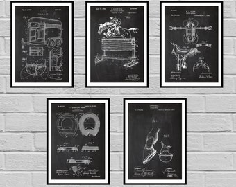 Equestrian Inventions 5 Pack SET Equestrian Patent Equestrian Art Wall Art Horse Saddle Patent Horse Jump Patent Equestrian art sp416