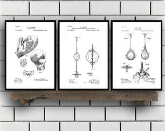 Boxing Patent Prints, Boxing Set of Three, Boxing Invention Patent, Boxing Poster, Boxing Print, Boxing, Boxing Bag SP262