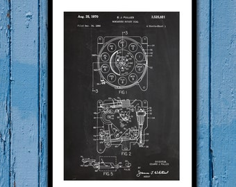 Rotary Dial Patent Rotary Dial Poster Rotary Dial Blueprint Rotary Dial Print Rotary Dial Art Rotary Telephone Decor p250