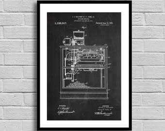 Popcorn Machine Patent Popcorn Machine Patent Poster Popcorn Machine Blueprint Popcorn Machine Print Movie Theater Decor Vintage Decor p1036