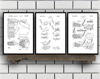 Golf Related Patent Set of THREE, Golf Invention Patent, Golf Poster, Golf Club Print, Golf Patent, Golf Inventions SP143