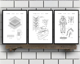 Bee Keeping Patent Set of Three, Bee Keeping Invention Patent, Bee hive Poster, Bee keeping Print, bee keeping Inventions, SP249