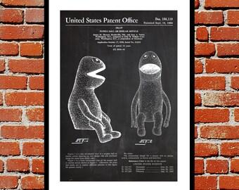 Jim Henson Muppet Print, Jim Henson Muppet Poster, Jim Henson Muppet Patent, Jim Henson Muppet Blueprint, Jim Henson Muppet Art p180