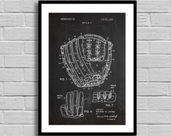 Baseball Glove Patent, Baseball Glove Poster, Baseball Glove decor,Baseball Glove Print, Baseball Art, Baseball Glove, gift for him p415
