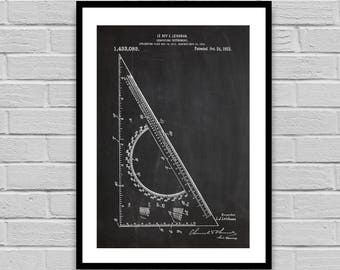 Drafting Tool Patent Drafting Tool Patent Poster Drafting Tool Blueprint Drafting Tool Print Home decor Architect Gift Student Gift p525