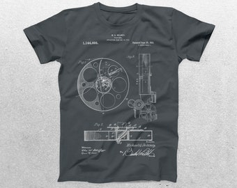 Film Reel Patent T-Shirt, Film Reel Blueprint, Patent Print T-Shirt, Movie Gift, Film Director Gift, Vintage Art, Cool Gifts p546