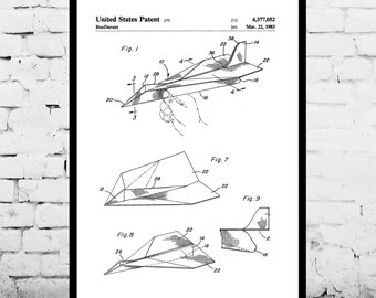 Paper Airplane Patent, Paper Airplane Poster, Paper Airplane Print, Paper Airplane Art, Paper Airplane Decor, Paper Airplane Blueprint p225