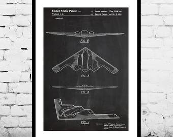 Stealth Bomber Patent Print Stealth bomber Aviation Art Pilot Gift Aviation Decor Air Force Military Gift Gift for him bomber p427