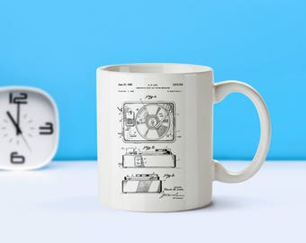 Record Player patent mug  coffee mug  coffee lover  patent art  patent mug  Musician Gift Vintage Music Room DecorHipster GiftM104