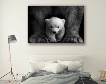 Animal Photography canvas framed prints home decor Nature Landscape Nature Photography Home Decor Polar Bears Wall Decor Scenery PH0136