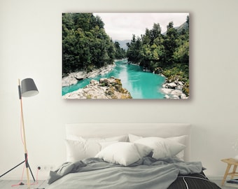 Rushing River Photo Pine Trees in Forest River Art River Landscape Nature Photography Home Decor Tree Photo  Wall Decor River PH035