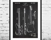Fender Bass Guitar Poster,Fender Bass Guitar Patent,Fender Bass Guitar Decor, Fender Bass Guitar Print, Fender Bass Guitar Blueprint p771