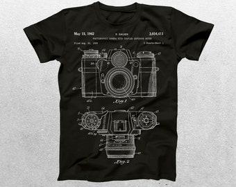 Camera Patent T-Shirt, Camera Blueprint, Patent Print T-Shirt, Photographer gift, Vintage art, Photography, camera shirt p065