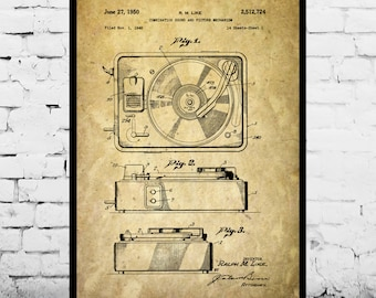 Record Player Patent, Record Player Poster, Record Player Print, Record Player Art, Record Player Decor, Record Player Blueprint p246