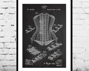 Corset Patent Corset Poster Corset Print Corset Art Corset Decor Corset Blueprint Vintage Corset Patent Vintage Fashion Decor p513