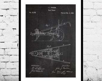 Seed Planter Patent Seed Planter Poster Seed Planter Blueprint  Seed Planter Print Seed Planter Art Seed Planter Decor Gardening Art p707