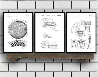 Basketball Patent, Basketball poster Set of THREE, Basketball Invention Patent, Basketball Poster, Basketball , Basketball Inventions 2P244