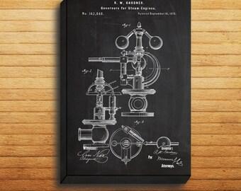 CANVAS  Steam Engine PatentSteam Engine PosterSteam Engine Blueprint Steam Engine PrintSteam Engine ArtSteam Engine Decor p279