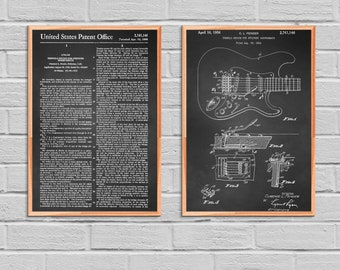 Fender Electric Guitar patent mug coffee mug coffee lover patent art patent mug classic guitar Fender guitar Musician Gift Rock and Roll2P40
