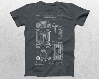 First Computer Patent T-Shirt, Vintage Computer Blueprint, Patent Print T-Shirt, Computer Programmer Gifts, Geeky Gift Ideas p569
