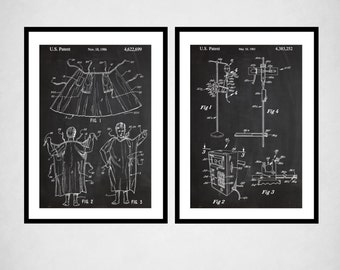 Hospital Decor  Hospital Gown Patent IV Pump Patent Hospital Wall Art Medical Decor Gifts for Doctors Medical Wall Art Patent Pairs sp514