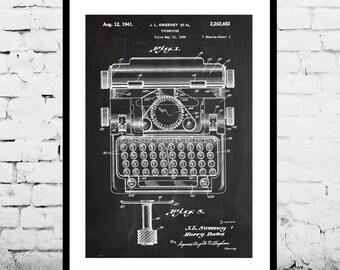 Type Typewriter Poster Typewriter Patent Typewriter Print Typewriter Art Typewriter Blueprint Typewriter Wall Art p024