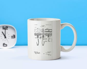 Razor patent mug  coffee mug  coffee lover  patent art  patent mug Barber Gift Gift for Him Home Decor Vintage Stylist DecorM13