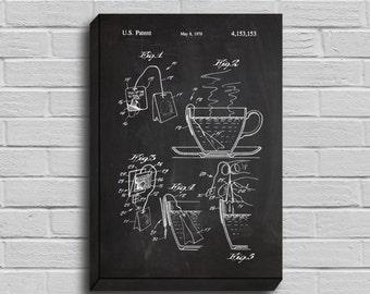 CANVAS  Tea Bag Patent Tea Bag Poster Tea Bag Blueprint Tea Bag Print Tea Bag Art Tea Bag Decor p289
