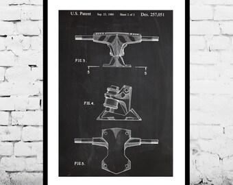 Skateboard Trucks Patent, Skateboard Trucks Poster, Wall Art Print, Patent Art, Skateboard Trucks Patent Poster, Blueprint, Patent Printp858