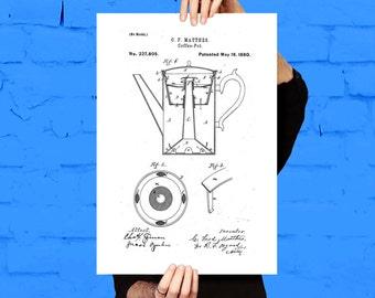 Coffee Pot Patent Coffee Pot Poster Coffee Pot Print Coffee Pot Art Coffee Pot Decor Coffee Pot Blueprint p083
