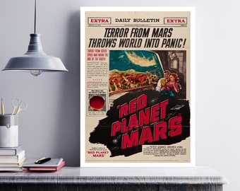 MOVIE poster  vintage Red Planet Mars Classic Horror space poster Poster Art Vintage Print Art Home Decor movie poster Classic Movies sp606