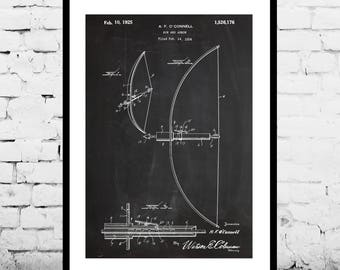Bow and Arrow Patent Bow Patent Poster Bow and Arrow Print Mancave decor Gift for him Hunting art gifts for hunters compound bow p1225