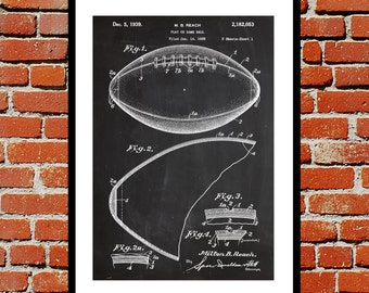 Football Print, Football Patent, Football Poster, Football Decor, Football Wall Art, Football Art, Football Patent Design p129