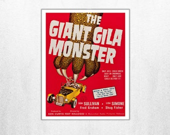 MOVIE poster vintage The Giant Gila Monster Classic Horror space poster Poster Art Vintage Print Home Decor movie poster Collectible sp615