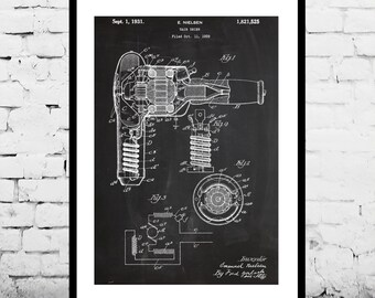 Hair Dryer Patent, Hair Dryer Poster, Hair Dryer Print, Hair Dryer Art, Hair Dryer Decor, Hair Dryer Blueprint, Vintage Beauty Decor p1115