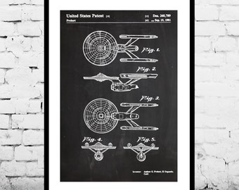 Star Trek Starship Enterprise Poster Starship Enterprise Patent Starship Enterprise Print Starship Enterprise Art Starship Enterprise p921