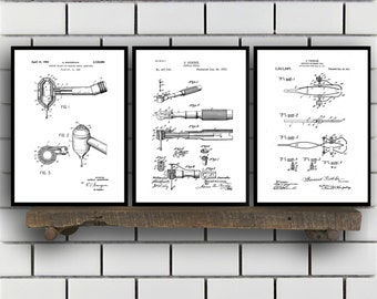 Dentist Patent Prints, Dentist Set of THREE, Dentist Invention Patent, Dentist Poster, Dentist Print SP284