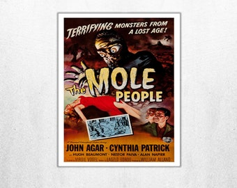 MOVIE poster vintage The Mole People Classic Horror space poster Poster Art Vintage Print Art Home Decor movie poster art Movie sp612