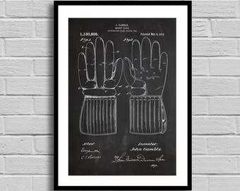 Hockey Glove Patent, Hockey Glove Patent Poster, Hockey Glove Blueprint, Hockey Glove Print, Sports Decor,Winter Sports,Athlete Gift, p824