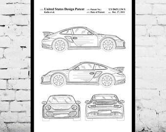 Porsche  Patent, Porsche Poster, Porsche Print, Porsche Art, Porsche Decor, Porsche Blueprint, Porsche Old Wall Art p918