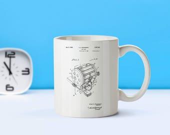 Spotlight patent mug  coffee mug  coffee lover  patent art  patent mug  Movie SpotlightTheater Decor Movie DecorTheater GiftsM48