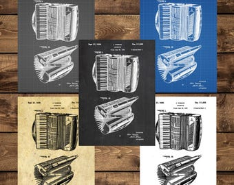 INSTANT DOWNLOAD - Accordion Patent, Accordion Poster, Accordion Print, Accordion Art, Accordion Decor, Accordion Blueprint