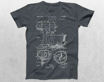 Kitchen Mixer Patent T-Shirt, Kitchen Mixer Blueprint, Patent Print T-Shirt, Kitchen Mixer Shirt, Baker Shirt, p1026
