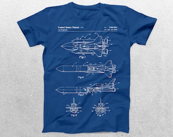 NASA Space Shuttle T-Shirt, NASA Space Shuttle Blueprint, Patent Print T-Shirt, Space Shuttle Shirt, Astronaut Shirt p216