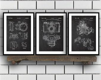 Camera Patent Prints, Camera Set of THREE, vintage Camera Invention Patent, Camera Poster, Camera Print, Camera, Camera Bag SP267