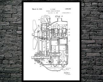 Internal Combustion Engine, Internal Combustion Engine Patent, Internal Combustion Engine Poster, Internal Combustion Engine Art, p1124