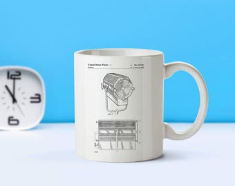 Theater Spotlight patent mug  coffee mug  coffee lover  patent art  patent mug  Acting Decor Stage DecorStage Hand GiftsTheaterM46